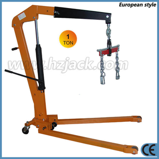 Mobile 2 Ton Foldable Engine Crane with Load Leveler