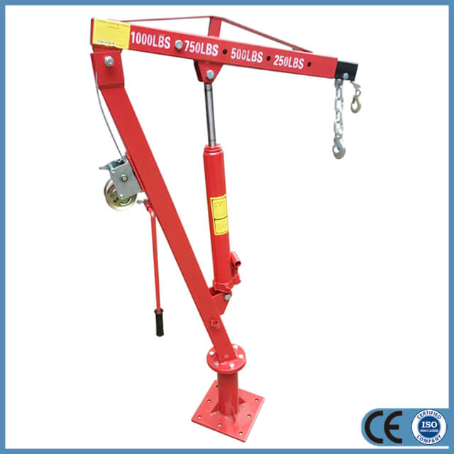 Hydraulic Pickup Truck Shop Crane with Winch