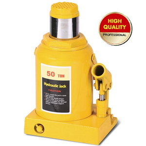 Yellow hydraulic bottle jack 50ton