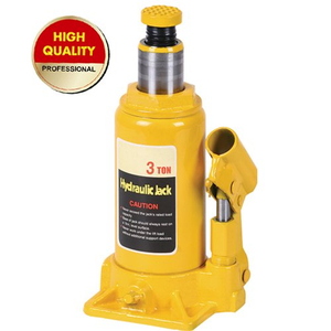 Yellow hydraulic bottle jack 3ton