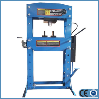 Hydraulic 50 Ton Shop Press with Double Speed Pump