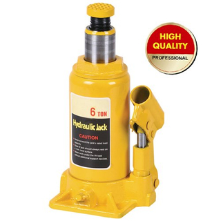 Yellow hydraulic bottle jack 6ton