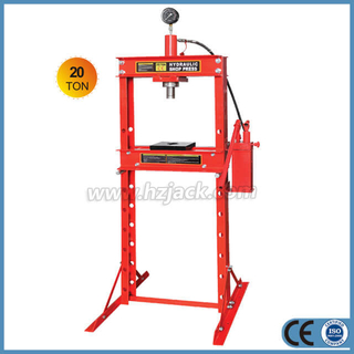 20 Ton Hydraulic Shop Press With Dual Pump