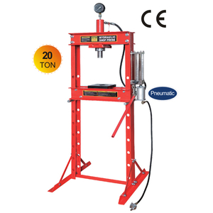 Pneumatic 20 ton shop press with gauge